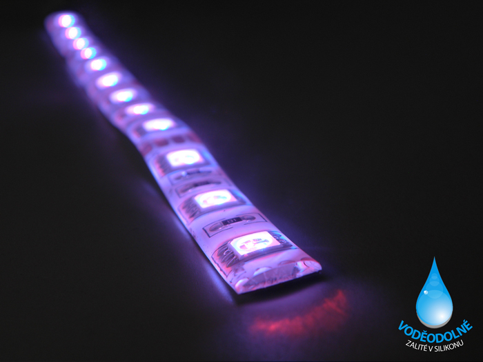 LED páska SMD5050, RGB, 12V, 1m, IP54, 60 LED/m